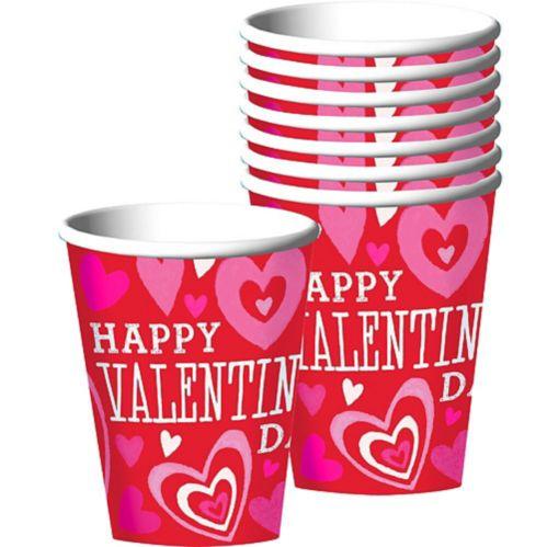 Verres, Saint-Valentin, couleurs vives, paq. 18 Image de l'article