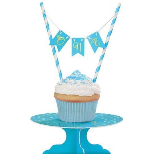 Mini Blue 1st Birthday Cake Stand Kit, 2-pc Product image