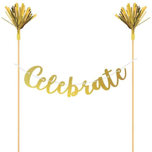 Celebrate Letter Banner Cake Topper