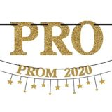 Gold & Silver Prom 2020 Banner Kit, 2-pc