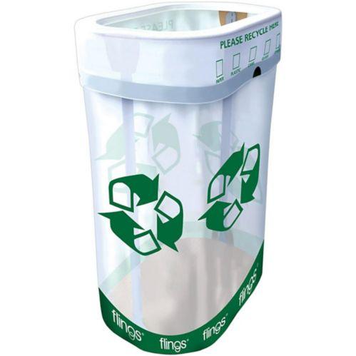 Bac de recyclage escamotable