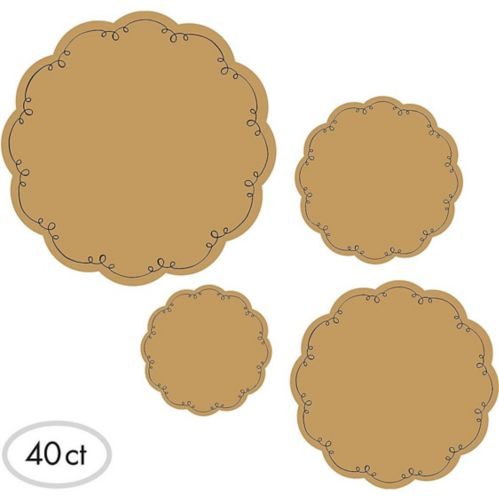 Kraft Round Serving Papers, 40-pc Product image