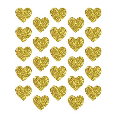 Sceaux autocollants dorés scintillants en forme de coeur, paq. 25