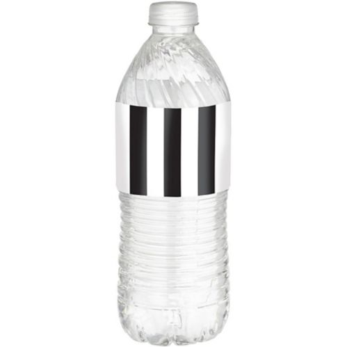 Black & White Striped Bottle Labels, 24-pk