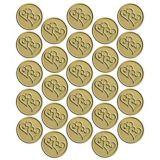 Gold Seal Metallic Heart, 25-ct