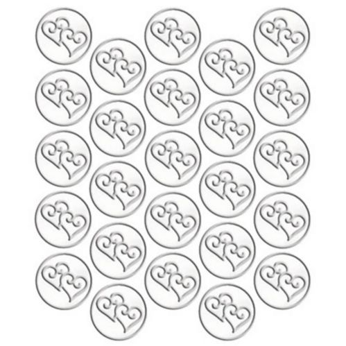 Heart Metallic Sticker Seals, 25-pk