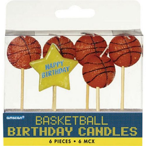 Bougies d'anniversaire de basketball sur cure-dents, paq. 6 Image de l'article