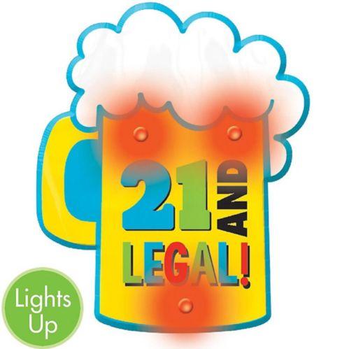 Macaron lumineux 21eanniversaire chope de bière