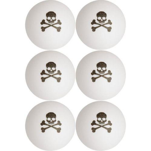 Balles de pong tête-de-mort sur deux tibias, paq. 6