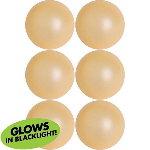 Balles de pong lumière noire, paq. 6