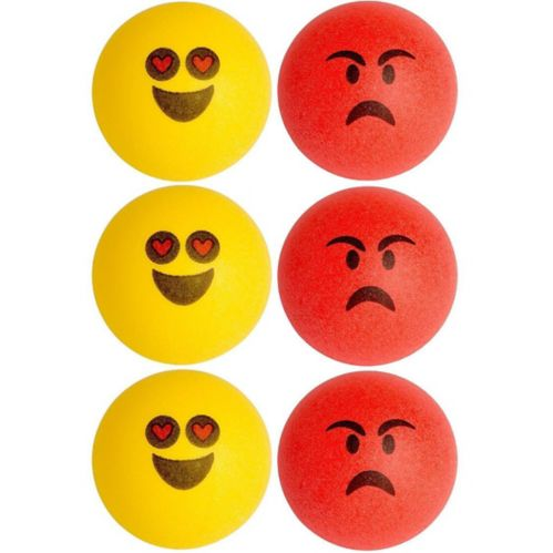 Smiley Pong Balls, 6-pk