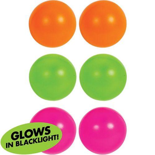 Balles de bière-pong lumière noire, paq. 6