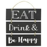 Affiche empilable Eat, Drink and Be Happy