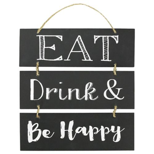 Affiche empilable Eat, Drink and Be Happy Image de l'article