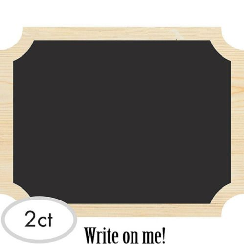 Chalkboard Wood Easel Signs, 2-pk