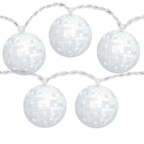 Guirlande de lumières à DEL boule disco des années 70 Ondes positives Image de l'article
