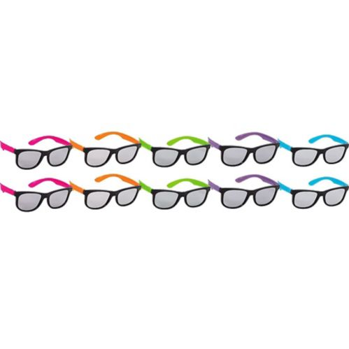 Neon Totally 80s Sunglasses, 10-pk