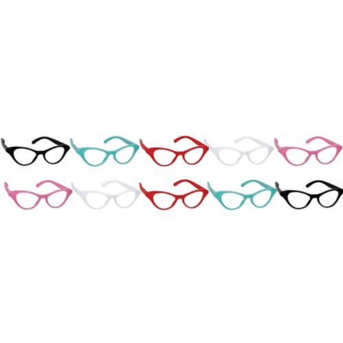 Classic 50s Cat Eye Glasses, 10-pk