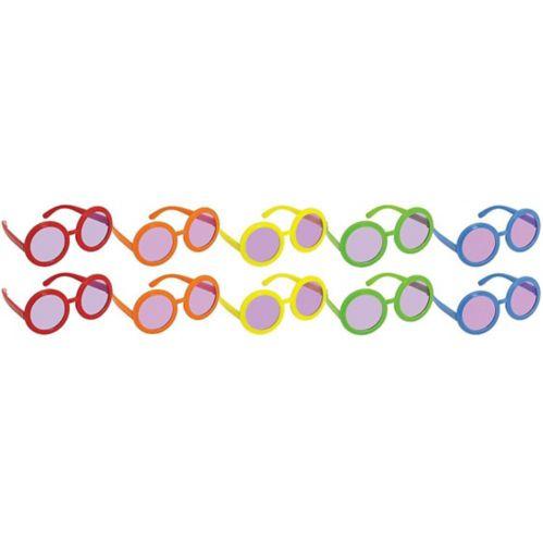 Lunettes de soleil multicolores des années 60, paq. 10