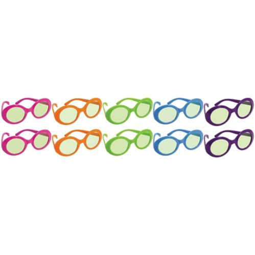 Multicolour 70s Sunglasses, 10-pk