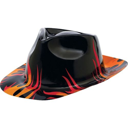 Flame Fedora Hat 50s