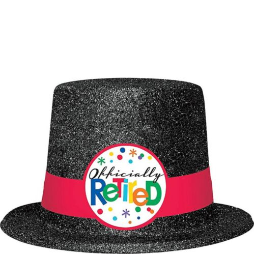 Glitter Officially Retired Top Hat