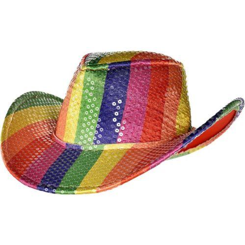 Sequin Rainbow Cowboy Hat