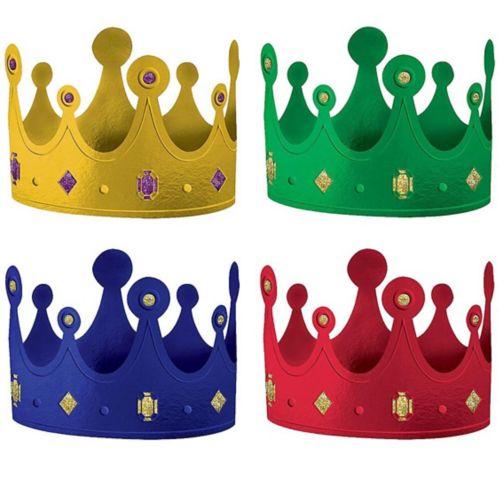 Metallic Medieval Crowns, 12-pk Product image