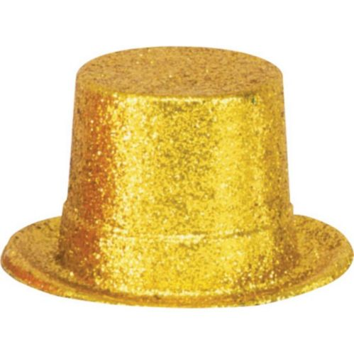 Glitter Gold Top Hat