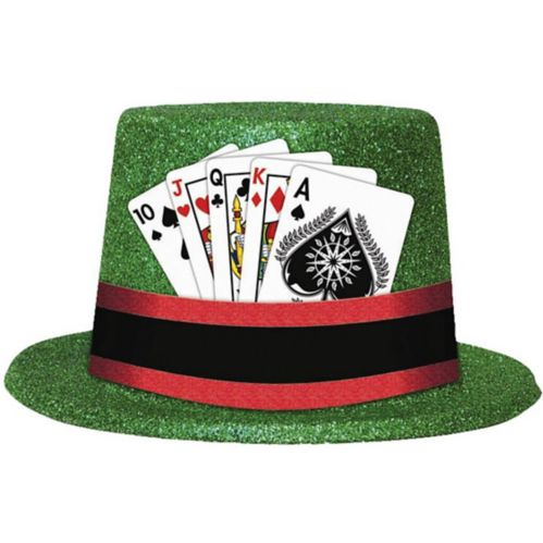 Glitter Playing Cards Top Hat