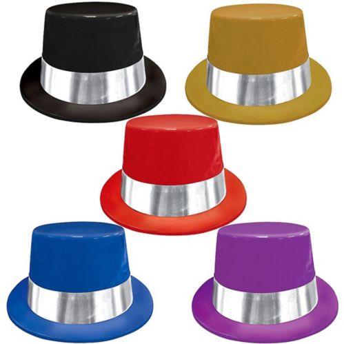 Plastic Top Hats, 5-pk
