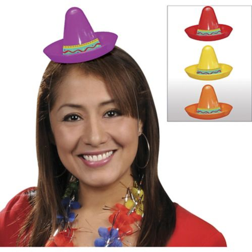 Mini sombreros Fiesta, paq. 8