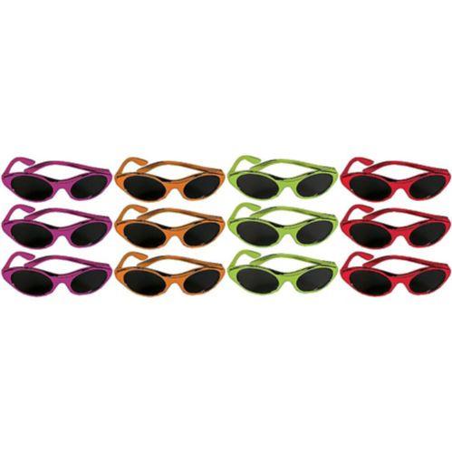 Fiesta Metallic Oval Sunglasses, 12-ct