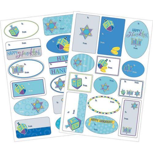 Hanukkah Icons Adhesive Gift Tags, 100-pk