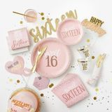 Elegant Sweet 16 Birthday Wishes Cards, 24-pk