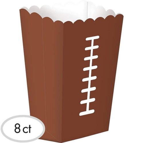 Boîtes pour maïs soufflé sur le thème du football, paq. 8