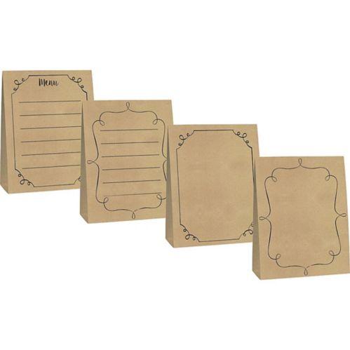 Grandes cartes-chevalets en papier kraft, paq. de 4