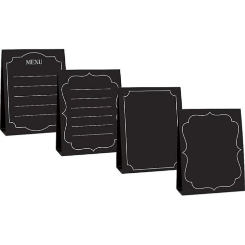 Large Chalkboard Tent Cards, 4-pk