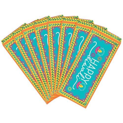 Enveloppes porte-billets métalliques Happy Diwali, paq. 8