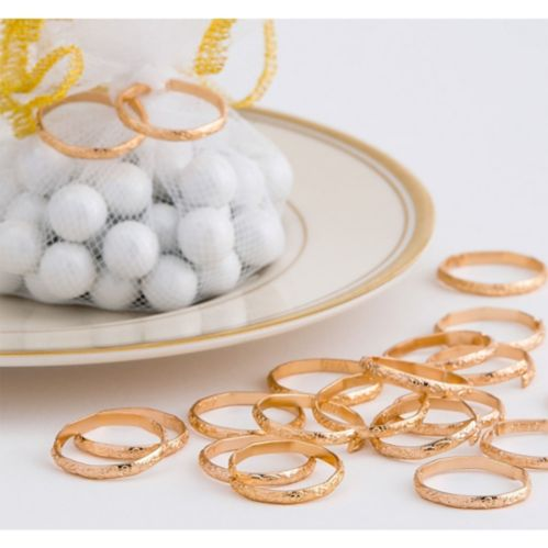 Gold Wedding Band Favour Charms, 288-ct Product image