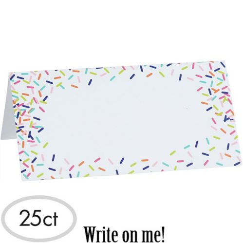Colourful Sprinkles Tent Cards, 25-pk