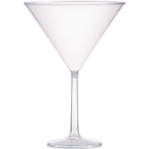 Grand verre à martini en plastique