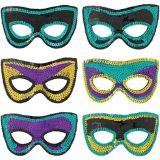 Masques pour bal masqué, paq. 6