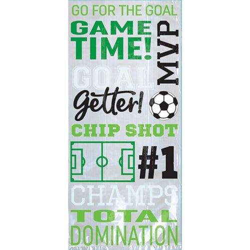 Goal Getter Soccer Treat Bags, 20-pk