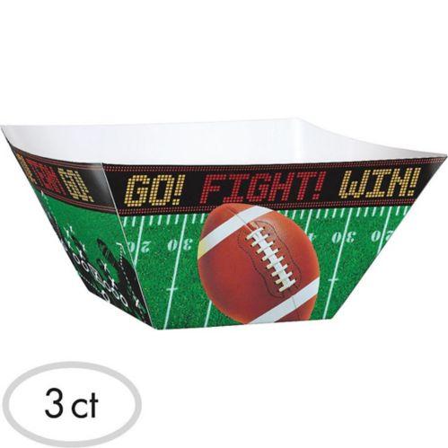 Football Field Snack Bowls, 3-pk