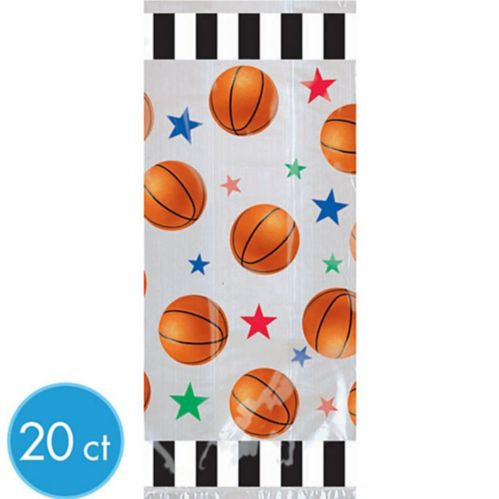 Large Basketball Favour Bags, 20-pk