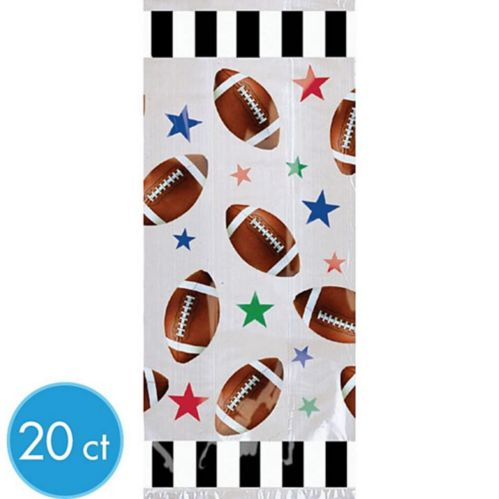 Football Treat Bags, 20-pk