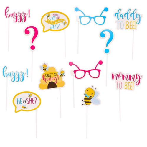 Little Honey Bee Photo Booth Props, 13-pcs