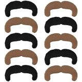 Black & Blonde 70s Moustaches, 10-pk
