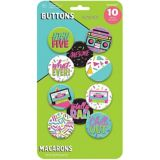 Awesome 80s Buttons, 10-pk